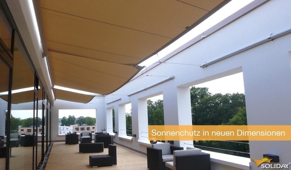 Markisensegel-Dachterrasse