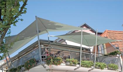 Sonnensegel Kombination auf Dachterasse