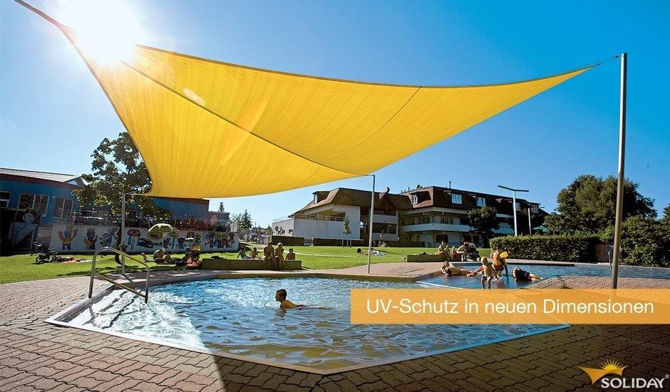 Sonnensegel-Freibad-UV-Schutz