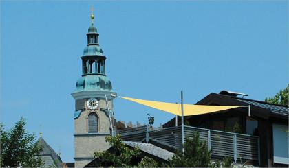 Sonnensegel auf Dachterasse / Farbe: Sunshine