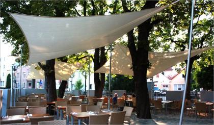 Sonnensegel Restaurant Symposium - Augsburg