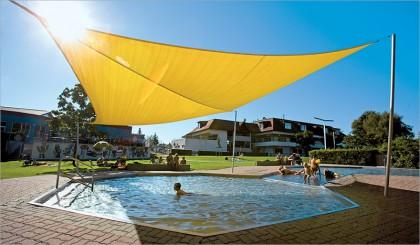Sonnensegel aufrollbar - Schwimmbad